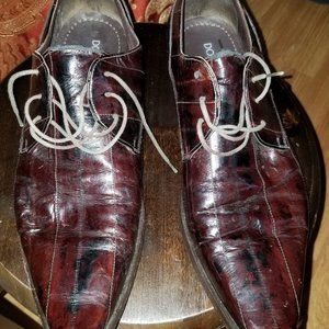 Dolce and Gabbana Dark Burgundy Leather Shoes